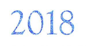 Iscrizione festiva 2018 due mila e diciotto illustrazione di stock