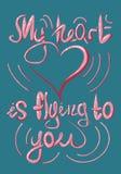 Iscrizione, illustrazione, colore, cartolina, manifesto, San Valentino, il 14 febbraio, amore royalty illustrazione gratis