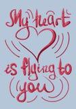 Iscrizione, illustrazione, colore, cartolina, manifesto, San Valentino, il 14 febbraio, amore illustrazione vettoriale