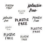 Iscrizione isolata libera di plastica illustrazione di stock