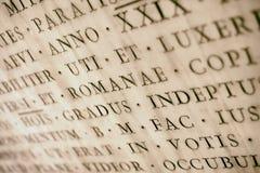 Iscrizione latina antica Fotografia Stock Libera da Diritti