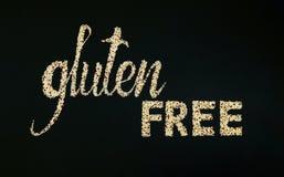 Iscrizione libera del glutine fatta della quinoa Immagine Stock Libera da Diritti
