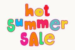 Iscrizione luminosa di vendita di estate Fotografie Stock