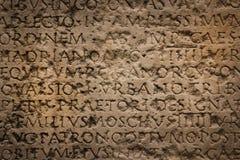 Iscrizione romana antica Narbona france fotografia stock