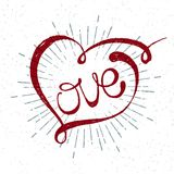 Iscrizione romantica di amore Fotografia Stock Libera da Diritti