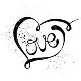 Iscrizione romantica di amore Immagini Stock Libere da Diritti
