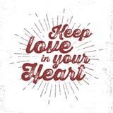 Iscrizione romantica disegnata a mano Fotografia Stock