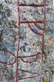 iscrizione runica, rune Fotografia Stock