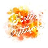 Iscrizione scritta mano di autunno Immagine Stock