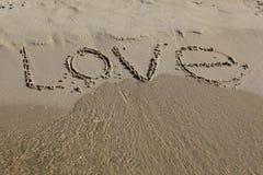 Iscrizione sulla sabbia Immagine Stock Libera da Diritti