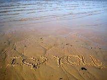 Iscrizione sulla sabbia Immagini Stock Libere da Diritti