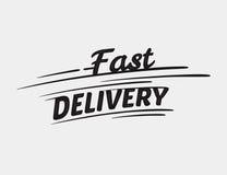 Iscrizione tipografica di consegna veloce Immagini Stock Libere da Diritti