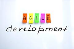 Iscrizioni di immagine di sviluppo agile Immagine Stock