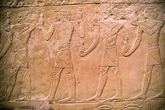 Iscrizioni geroglifiche sulla camera di sepoltura di Methen in Egy Fotografia Stock