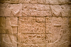 Iscrizioni geroglifiche sulla camera di sepoltura di Methen in Egy Immagine Stock