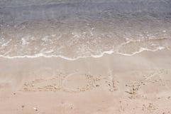 Iscrizioni nella sabbia nel 2017 Fotografia Stock Libera da Diritti