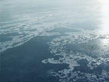 Isdal av sjön Arkivfoton