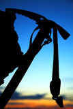 Ise-axe silhouette Royalty Free Stock Photography