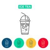 Ise herbaty ikona Zdjęcia Royalty Free