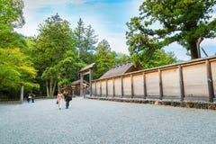 Ise Jingu Geku (святыня Ise грандиозная - наружная святыня) в городе Ise, префектуре Mie стоковое изображение