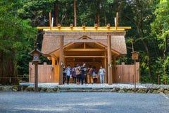 Ise Jingu Geku (santuário de Ise Grand - santuário exterior) em Ise City, Mie Prefecture fotos de stock royalty free