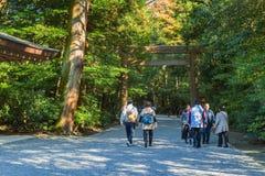Ise Jingu Geku (santuário de Ise Grand - santuário exterior) em Ise City, Mie Prefecture imagens de stock