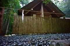 Ise Jingu shrine complex, Japan. Traditional building at the most sacred shinto Shrine, Ise Jingu, Japan Stock Image