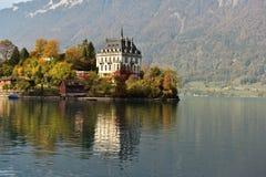 Iseltwald около Интерлакена, Швейцарии стоковое фото rf