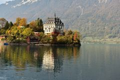 Iseltwald dichtbij Interlaken, Zwitserland royalty-vrije stock foto