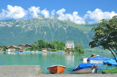 Iseltwald, lago Brienz, Svizzera immagine stock