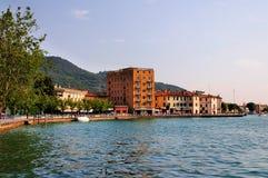 lago di Iseo,意大利 免版税库存照片