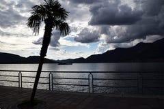 Iseo长的湖在一风暴日021 库存图片