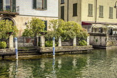 Iseo.Building near the lake Stock Photos