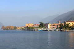Iseo cityscape and blue lake Stock Images