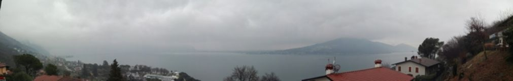 Iseo jeziora widok Obraz Royalty Free