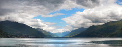 Iseo jezioro Obrazy Royalty Free