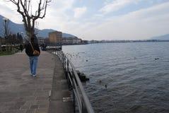 Iseo lake Arkivfoto