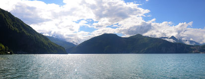 Iseo lake. Between bergamo and brescia country Royalty Free Stock Photo