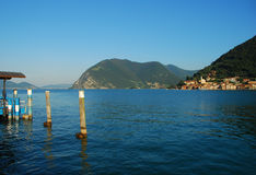 Lake Iseo, Northern Italian lakes, Italy Royalty Free Stock Photo