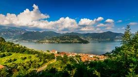 Iseo Lake Italy - Monte Isola Stock Images