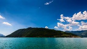 Iseo Lake Italy - Monte Isola Stock Photo