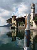 Iseo sjön i nordliga Italien Royaltyfri Fotografi