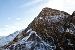 Iseran slopes. A mountain in winter covered by snow Stock Image