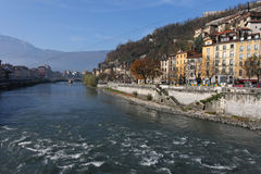 Isere river in Grenoble Stock Images