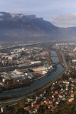 Isere river, Grenoble, southeastern France Stock Image