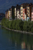 Isere river quay in Grenoble Stock Images