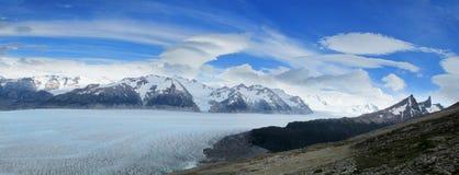 Isfält som är glaciar av Patagonia Arkivbild