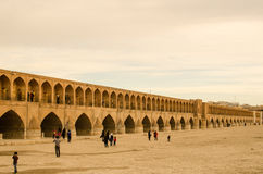 Isfahan Bridge. Dried River and Brick Made Bridge Stock Photos