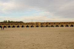 Isfahan Bridge. Dried River in Siosepol Bridge in Isfahan Stock Images