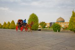 Isfahan Imam Square carriage ride Royalty Free Stock Photo